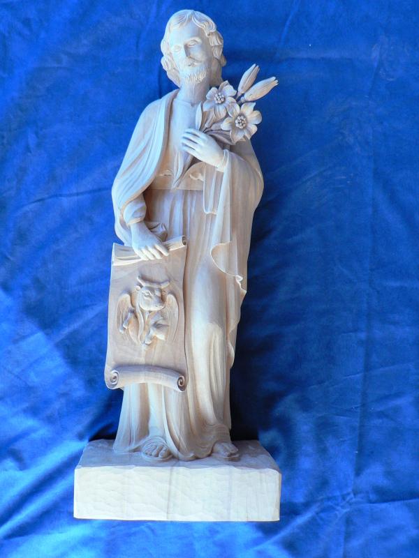 St joseph avec une représentation de St luc